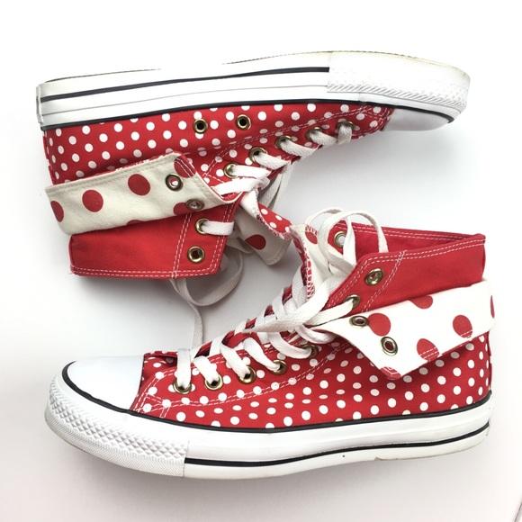73404cdeab88 Converse Shoes - Converse Chuck Taylor Red Polka Dots Women s 9